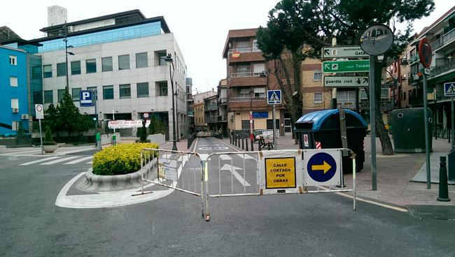 Obras en las calles cuestas bajas y jardines grupo for Calle jardines getafe